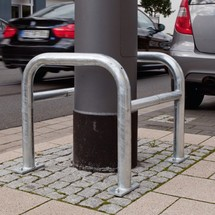 Proteção de coluna, exterior, galvanizado