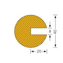 Protection de profilé circulaire, à enficher