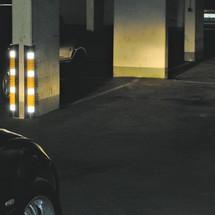 Protective corner trim, reflective