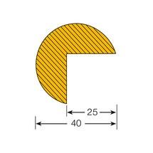 Protège-arêtes circulaire, autocollant, 40/40mm, rouleau de 5m
