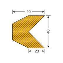 Protetor de arestas trapezoidal autocolante