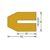 Protetor de perfis trapezoidal para encaixar profundo