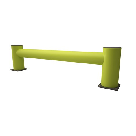 Protezione di fine scaffalatura in materiale plastico, fluorescente