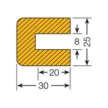 Protezione profilo rettangolare, da innestare