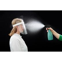 Protezione viso con visiera, fascia in PP