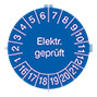 """Prüfplakette 2016 oder 2017  """" Elektr. geprüft"""", nach Monaten"""