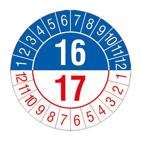 Prüfplakette 2016 oder 2017.16/17, nach Monaten