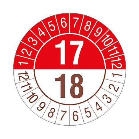 Prüfplakette 2017/2018, 17/18 - nach Monaten
