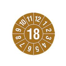 Prüfplakette 2018 nach Monaten, 2-stellige Jahreszahl