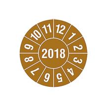 Prüfplakette 2018 nach Monaten, 4-stellige Jahreszahl