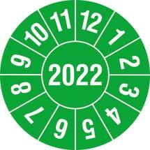 Prüfplakette 2022, nach Monaten, 4-stellige Jahreszahl