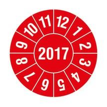 Prüfplaketten 2017, nach Monaten, 4-stellige Jahreszahl