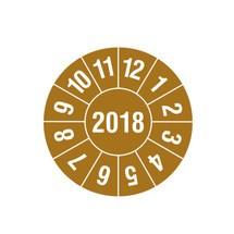 Prüfplaketten 2018, nach Monaten, 4-stellige Jahreszahl
