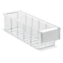 Průhledné skladovací boxy zpolystyrenu vč. etiket