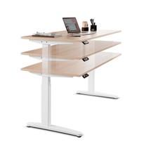 Psací stůl s paměťovým spínačem, konstrukční výška kově nastavitelná
