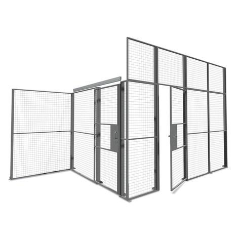 Puerta de dos hojas para sistema de tabiques TROAX®