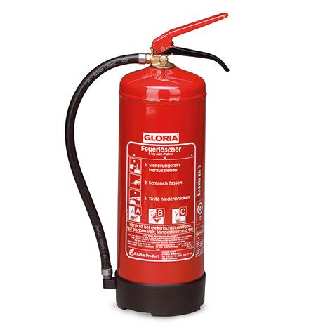 Pulver-Feuerlöscher Gloria PD. Inhalt 6 kg oder 12 kg