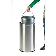 Push-Abfallbehälter, selbstschließende Klappe, 40 Liter