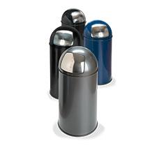Push-Abfallbehälter, selbstschließende Klappe, 50 Liter