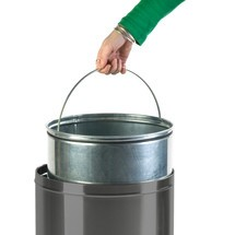 Push waste bin, self-closing flap, 40 litres