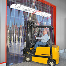 PVC-Streifenvorhang Außenbereich. Streifenbreite 300 mm. Überlappung 54 mm