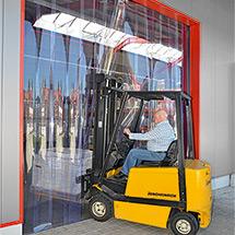 PVC-Streifenvorhang Außenbereich. Streifenbreite 300 mm. Überlappung 95 mm