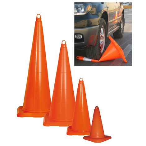 PVC traffic cone, can be driven over