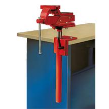 Qualitäts-Ganzstahl-Schraubstock mit Höhenverstellung, Spannweite 125 mm