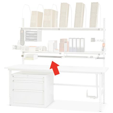 Querträger für Packtisch 1600 (1455x40mm)