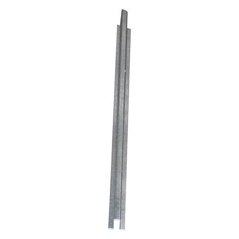 Raccordo per vasca di raccolta piatta in acciaio, altezza 78 mm