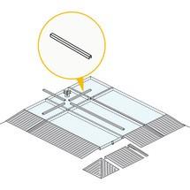 Raccordo vasca per vaschetta di raccolta piatta in acciaio, capacità di carico 6.500 kg/m²