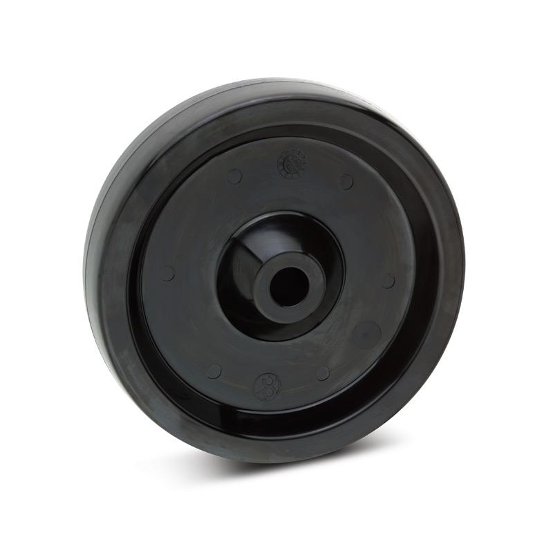 Rad aus Kunststoff hitzebeständig für Stahlgehäuse. Tragkraft 140 bis 350kg
