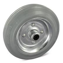 Rad aus Vollgummi, spurlos. Stahlblechfelge. Tragkraft 50 - 205 kg