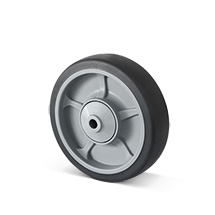 Rad Basic aus TPE, spurloses, graues Thermoplastrad, Tragkraft von 135-205 kg