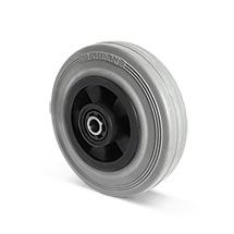 Rad Basic aus Vollgummi auf PP-Felgen, PAK-frei, Tragkraft von 70-205 kg