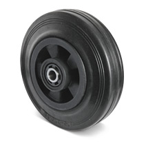 Rad Basic aus Vollgummi auf PP-Felgen. Tragkraft 70 - 205 kg