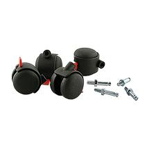 Räder für ein- und zweiseitigen Reihengaredobenständer
