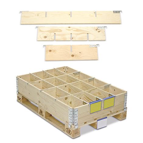 Rahmenteiler für Holzaufsatzrahmen mit bis 16 Fächer