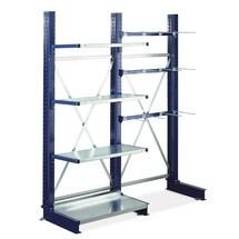 Rail de support pour support emboîtable pour rayonnage Cantilever META