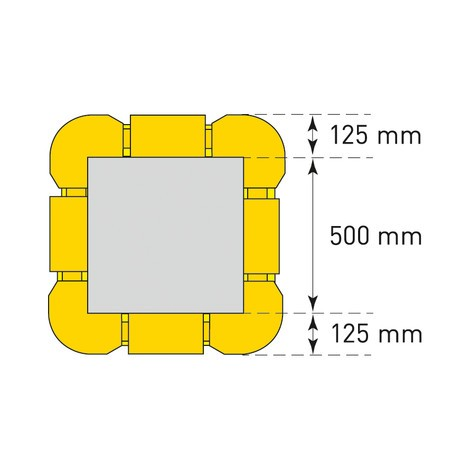 Rallonge pour protection de colonnes, flexible