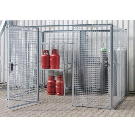 Rám pre box na skladovanie plynových fliaš TRGS 510