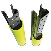Rammschutz aus Kunststoff für die Befestigung an Regalen