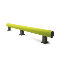 Rammschutz-Barriere aus Kunststoff, Einzelplanke, 3400mm