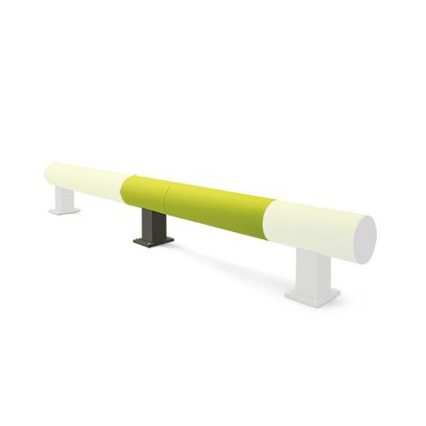 Rammschutz-Barriere aus Kunststoff, Einzelplanke Anbau-Set, 1500mm
