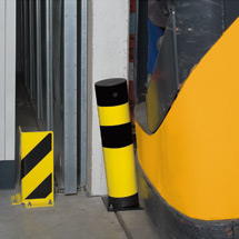 Rammschutz-Poller Swing, kunststoffbeschichtet, elastisch