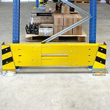Rammschutzplanken-Set mit 2 Abweiserecken, teleskopierbar