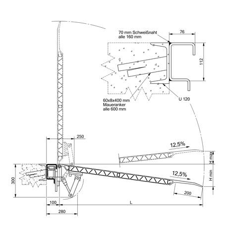 Rampen-Verladebrücke verschiebbar. Tragkraft 4000kg, Breite 1,25/1,50m