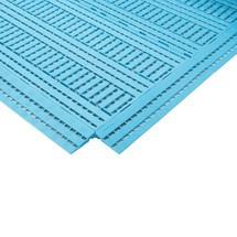 Randstrook voor werkplekmat van polyethyleen