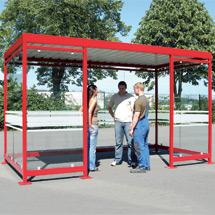 Raucher-Unterstand 2510 x 4195 x 2360, Bausatz