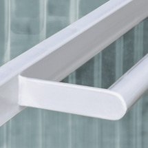 Raucher-Unterstand BASIC Well-Polycarbonat-Wände. Mit Rückwand und linker Seitenwand. 2 Breiten zur Auswahl